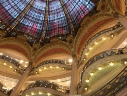 View of the Ceiling of Galerie Lafayette